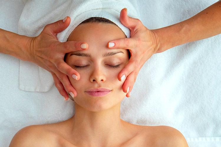 Natural Face Lift Acupressure Woman